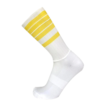 TeamSocks Elite Cykelstrømper - Yellow Stribes Aero